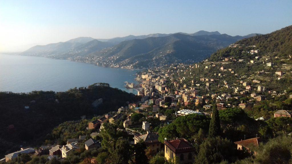 Vue sur Camogli depuis San Rocco