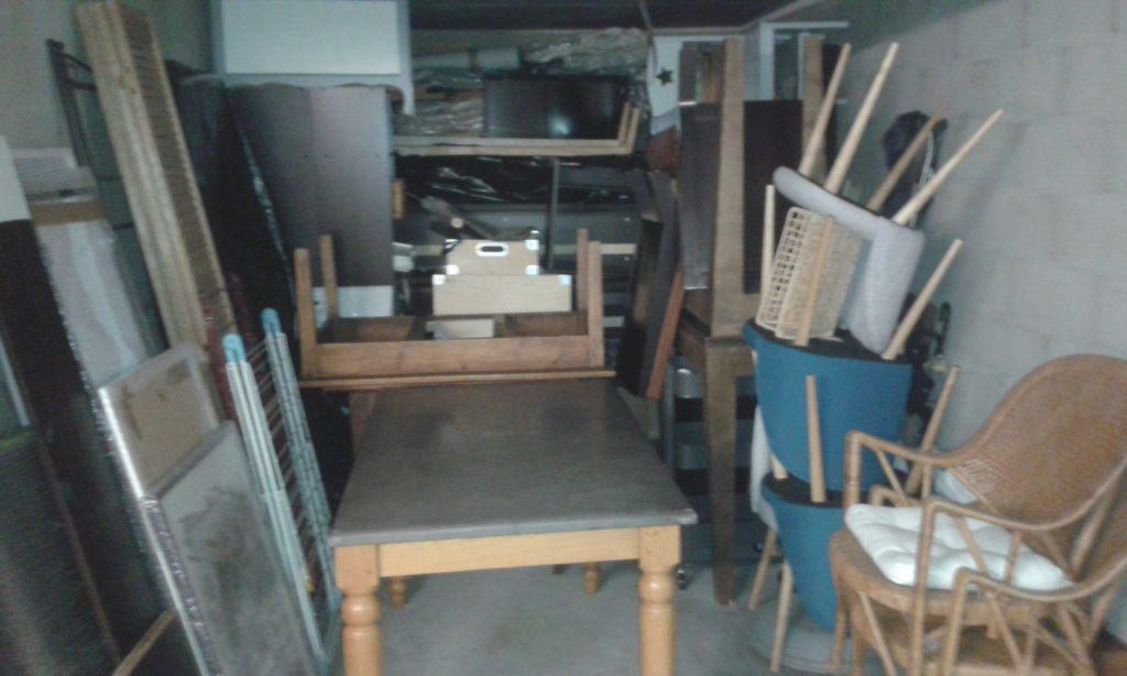 Garage pour stocker nos meubles