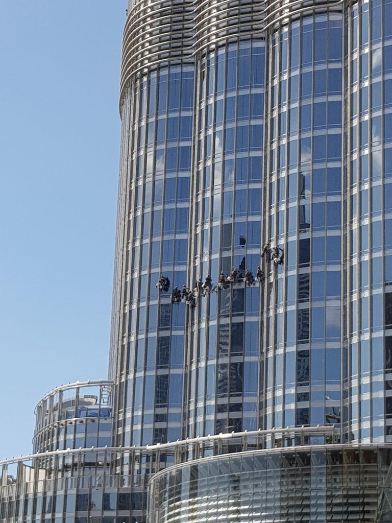 Nettoyeurs vitre Burj Khalifa