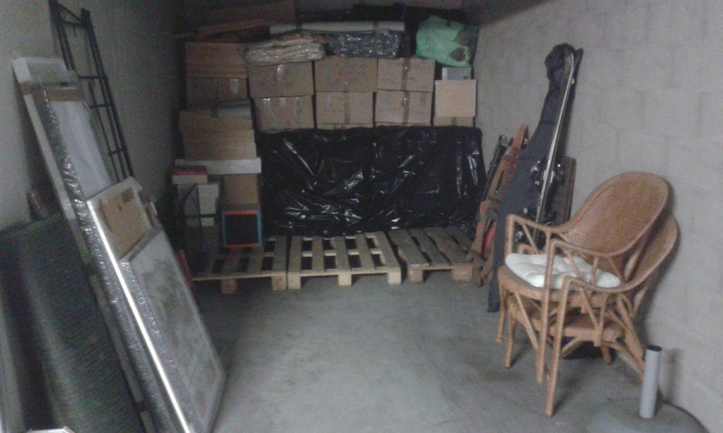 Stockage cartons