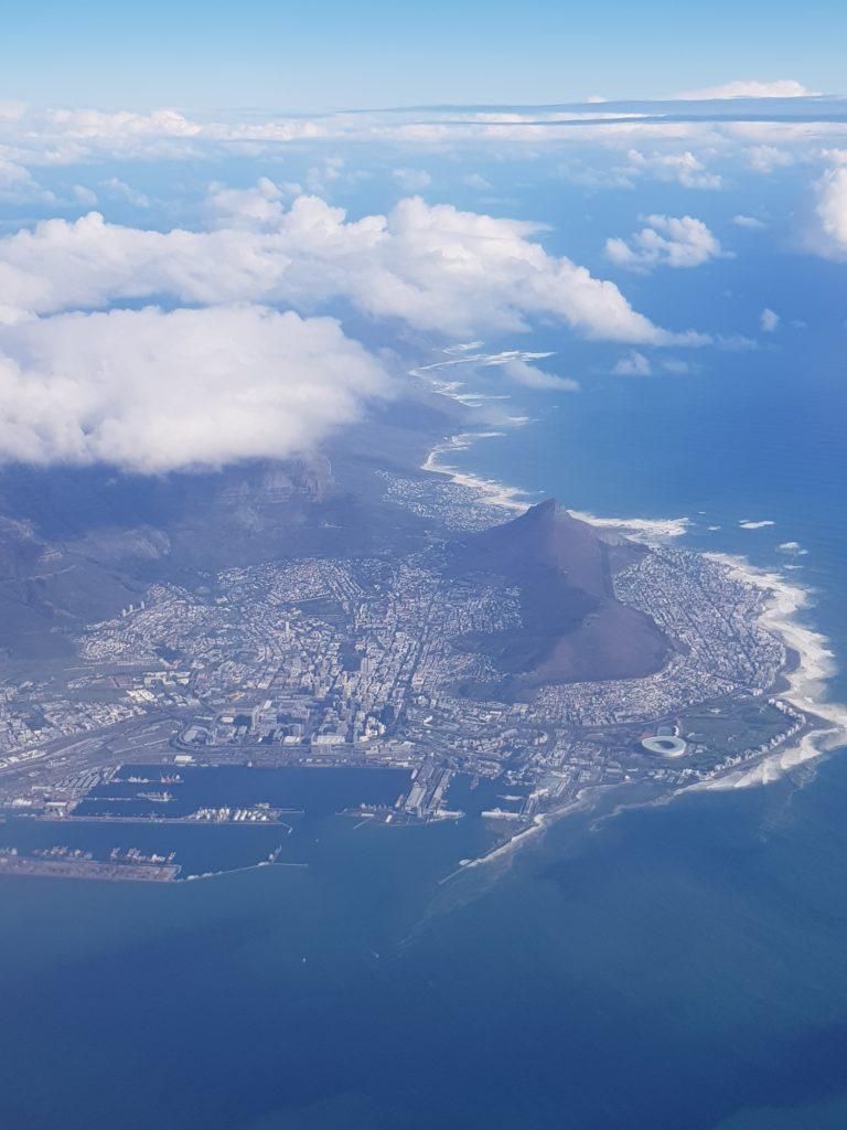 Cape Town vue du ciel